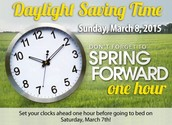 Daylight Saving Time is this Sunday!