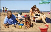 Relaxing Days on the Beach in Spring and Summer