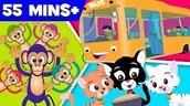 Five little monkeys   Three Little Kittens   wheels on the bus   nursery rhyme collection for kids