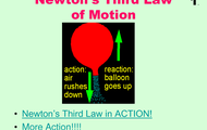 Newtons third law of motion.