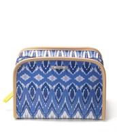 Beauty Bag Indigo Ikat, Reg $36, Now $18