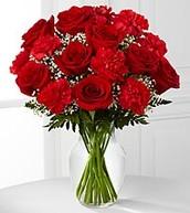 Traditional Rose Arrangement