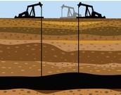 Diagram of How Deep Fracking Occurs