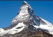 Mountain Bordering Switzerland and Italy