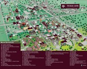 Map of Texas A&M
