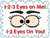 "If you hear me say, ""1-2-3, eyes on me!"""