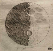 Galileo's Sketch of The Moon
