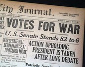 1917- (April 2) President Wilson petitions for War on Germany