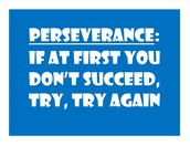Character Trait for December - PERSEVERANCE and DETERMINATION