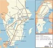 Transportation Map of Sweden