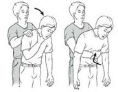 IF THEY ARE CHOKING, ALTERNATE BETWEEN BACK BLOWS AND ABDOMINAL THRUSTS