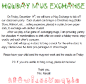 Winter Party: Mug Exchange
