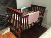 £30 Pottery Barn Espresso Crib w/ Mattress