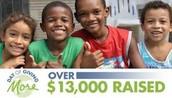 Over 13,000 dollars were raised last year!