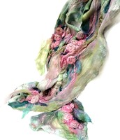 Watercolor Rosette Scarf