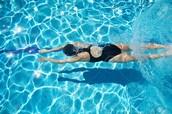 Me gusta nadar.