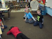 Playing our favorite morning meeting activity: 4 Corners!