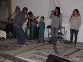 Worship time at the evening service