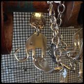 Elephant Bracelet from Upcycled Utensils: $36