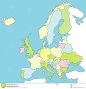 De grenzen in Europa