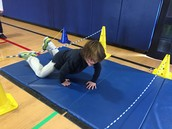 Students enjoy Obstacle Course in PE