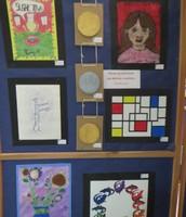 Students art samples at art show