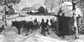Pilgrims suffer through winter.