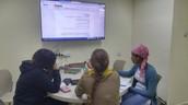 חדר למידה בקבוצות נחנך בספרייה