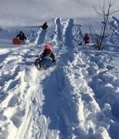GW loving the new snow!