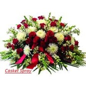 Personally Supplied To The Funeral Chapel By An Experienced Regional Flower Designer - Casket Spray