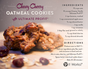 Chew Cherry Oatmeal Cookies