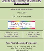 Approved Summer PD Opportunities
