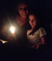 Harper Enjoying Earth Hour