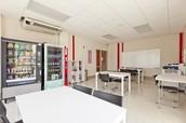 Bright study room
