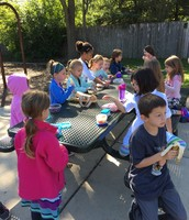 Class snack outside!