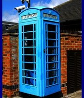 Blue telephone booth!