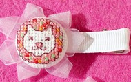 Cross Stitch Hair Clips