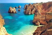 This is a beach in Portugal called algarve.