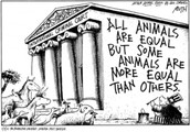 Not all animals are equal but they are all equal.