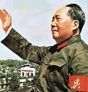 Mao Zedong in his army cloths