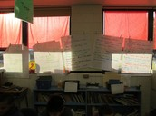 Writing Anchor Charts in Crawshaw's room