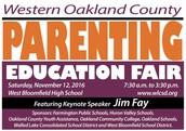 Parenting Fair- Saturday, November 12