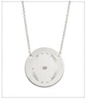 Monogram Disc Necklace