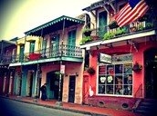 IT IS STREET OF FRENCH QUARTER.