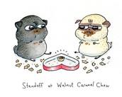 standoff at the Walnut caramel chew