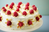Raspberry, vanilla and white chocolate