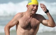 Abbott going for a swim