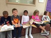 Students explore literature!
