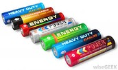 A set of 7 Different Batteries