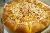 Cheese in the Crust Cheese Pizza
